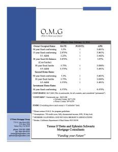 Rates Sheet: 2/12/16