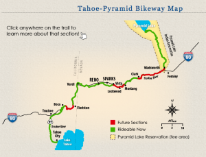 BIKE from LAKE to LAKE! Lake Tahoe Truckee to Boca to Pyramid Lake